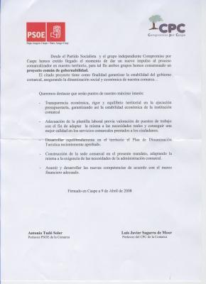 PROYECTO COMUN DE GOBERNALIDAD  COMARCA BAJO ARAGON CASPE